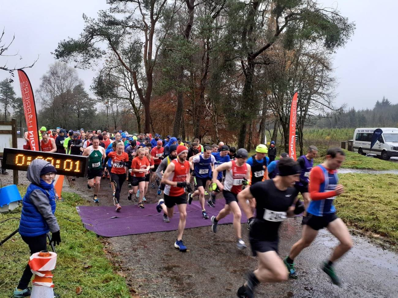 Start of the Sperrin Harrier Winter League Davagh 10k