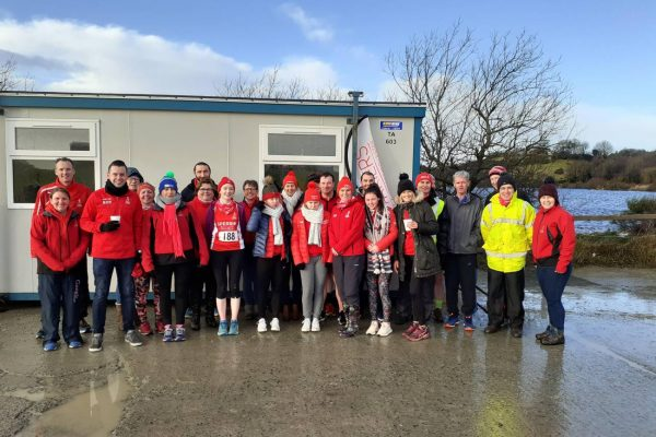 Sperrin Harriers at the Winter League Lough Fea 5k