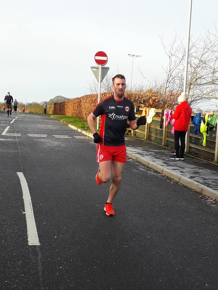 Ryan Treanor on his way to second place at MUSA Parkrun