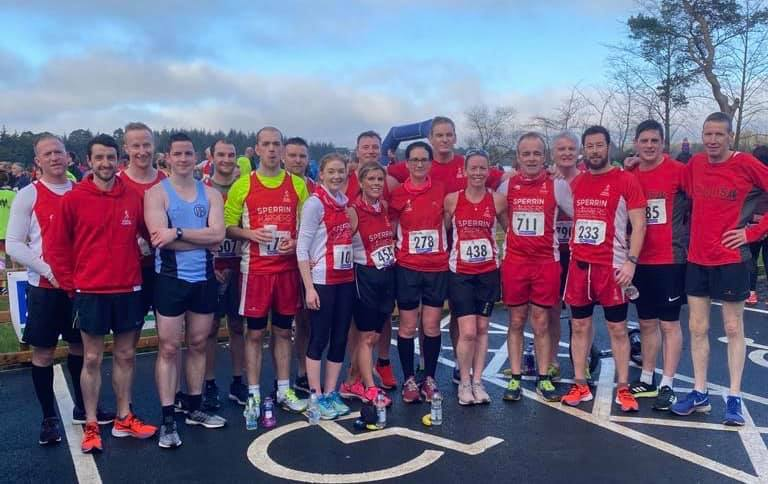 Sperrin Harriers at the Loughmacrory Lough 5 Road Race