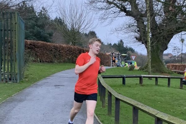 Andrew Newell was first at Dungannon Park parkrun