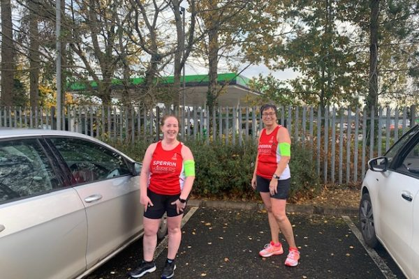 Briege McCann and Maureen Mallon complete the virtual Run in the Dark 10K