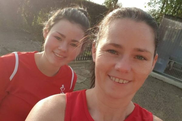 Ellie and Gillian Robinson completed the virtual Davagh 10k