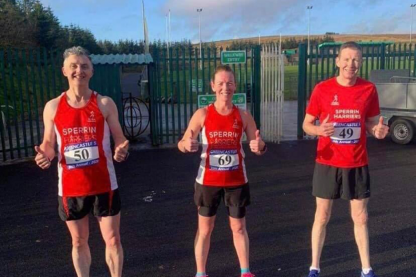 Thumbs up at Greencastle 5 mile (Vincent Hollywood, Tanya Quinn and Paul McLaughlin)