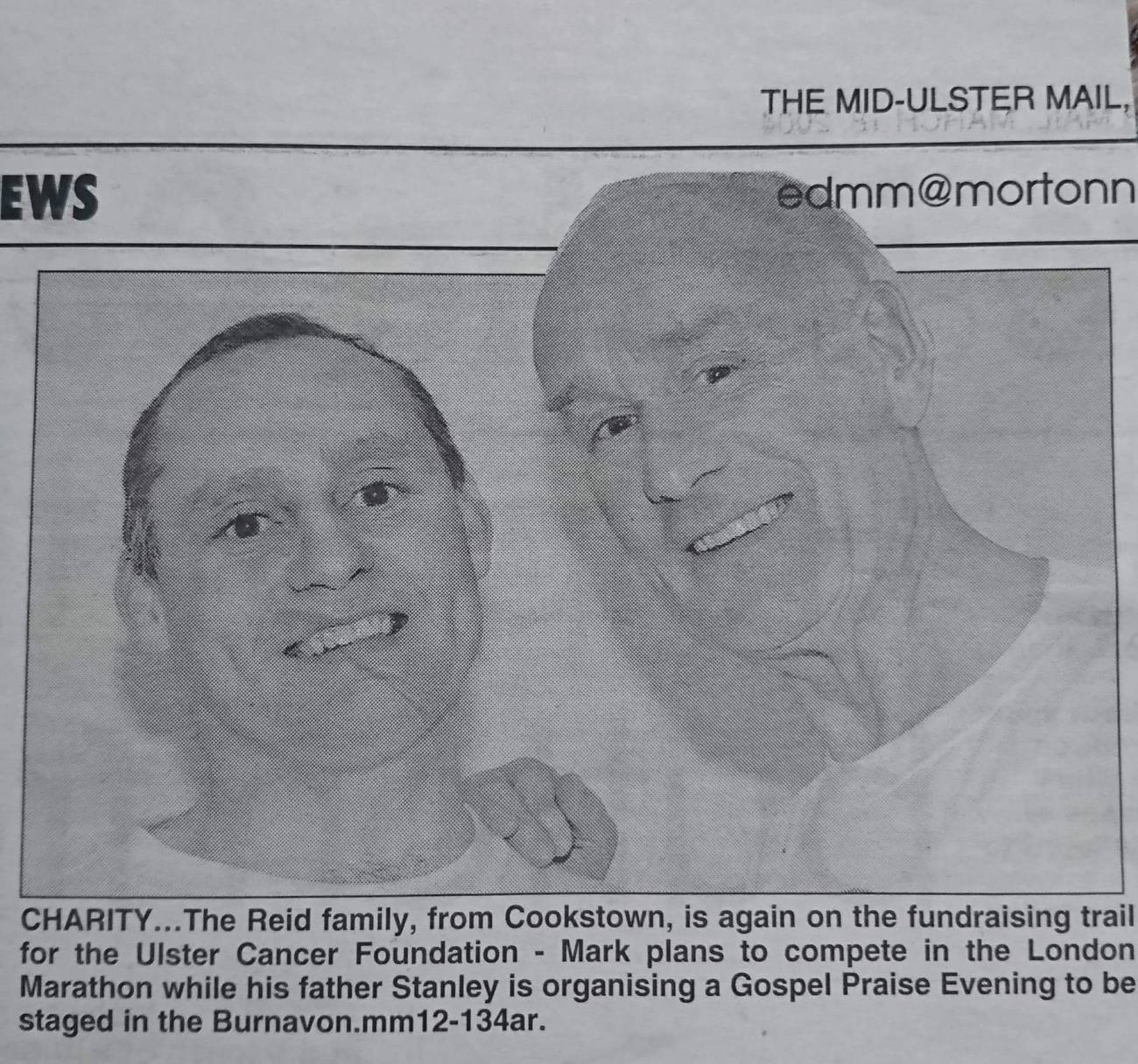 Mark Reid (left), with his late father Stanley on a past fundraiser.