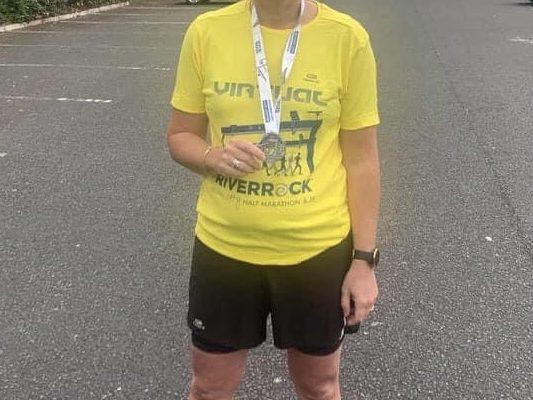 Emma Duffy completed the virtual Belfast Half Marathon